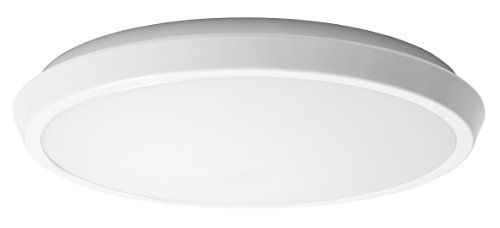 GE Lighting 20433 LED 15-watt (60-watt replacement), 975-Lumen 12-Inch Indoor Flush Mount Ceiling Fixture, Direct-Wire, Soft White, 1-Pack