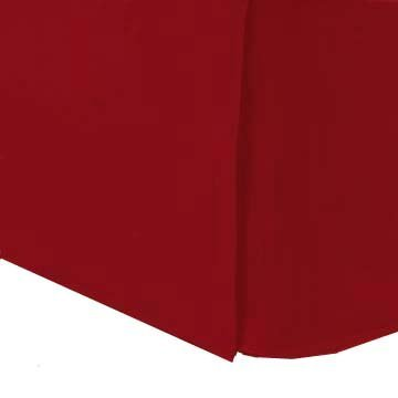 Red Twin Bed Skirt