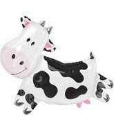 "30"" Large Farm Animal Cow Mylar Balloon"