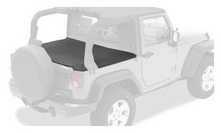 Bestop 90033-35 Black Diamond Duster Deck Cover For 07-12 Wrangler2-Door (With Factory Soft Top Hardware Removed)