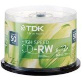 TDK Systems CDRW 80MIN 700MB 12X HI-SPEED SPINDLE 50PK ( CD-RW80HSGC50-G )