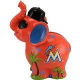 MLB Miami Marlins Thematic Elephant Bank, Orange