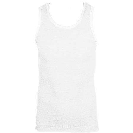 Soul Star MVFresh Slim Fit Ribbed Vest Top Mens Size XL - White