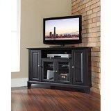 Crosley Furniture Newport 48-Inch Corner TV Stand, Black