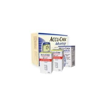 ACCU-CHEK Comfort Curve Test Strips are for testing glucose in whole blood.  For use with ACCU-CHEK Advantage Meter and ACCU-CHEK Complete Meter.
