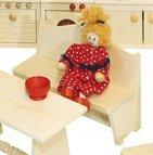 Rülke Holzspielzeug 22259 Küchenbank mit Lehne Rustikal