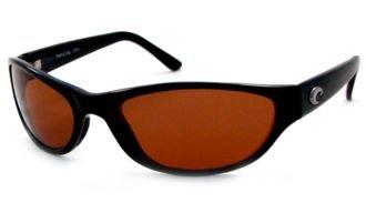 Deals For Costa Del Mar Sunglasses Triple Tail Glass Frame Shiny Black Lens Polarized Copper Wave 580 Glass TT11CW580