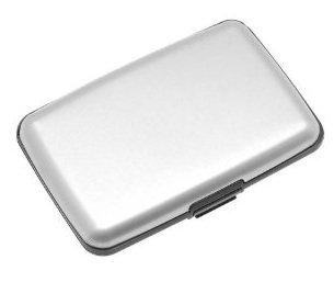 Aluma Wallet Credit Card Holder RFID Blocking - Silver Color