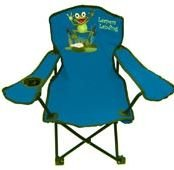 Kids Folding Camp Chair (1-pc Blue or Orange) (Frog Leaper) (Cup Holder)
