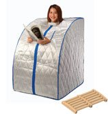 Portable Far Infrared Sauna with Ceramic Heater, Heating Panels and Foot Massager - X-Large