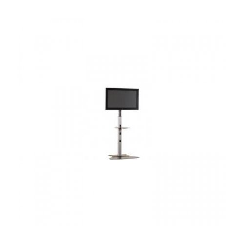 "Flat panel single stand height adjustable 30"" - 55"" max weight 56.7kg - Silver"