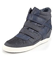 Riptape High Top Cuff Wedge Trainers