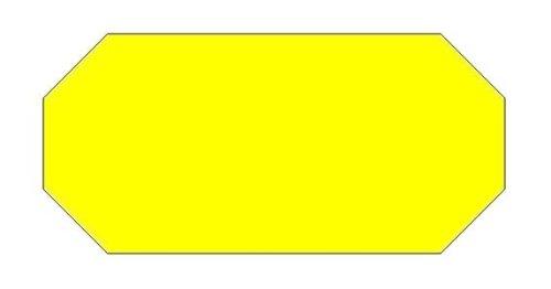 Haftetiketten handauszeichner pour 26 x 12 mm (54.000.. fluor jaune.