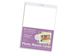 Strathmore Photo Mount Greeting Cards 5 in. x 6.875 in. cards white pack of 50 with envelopes