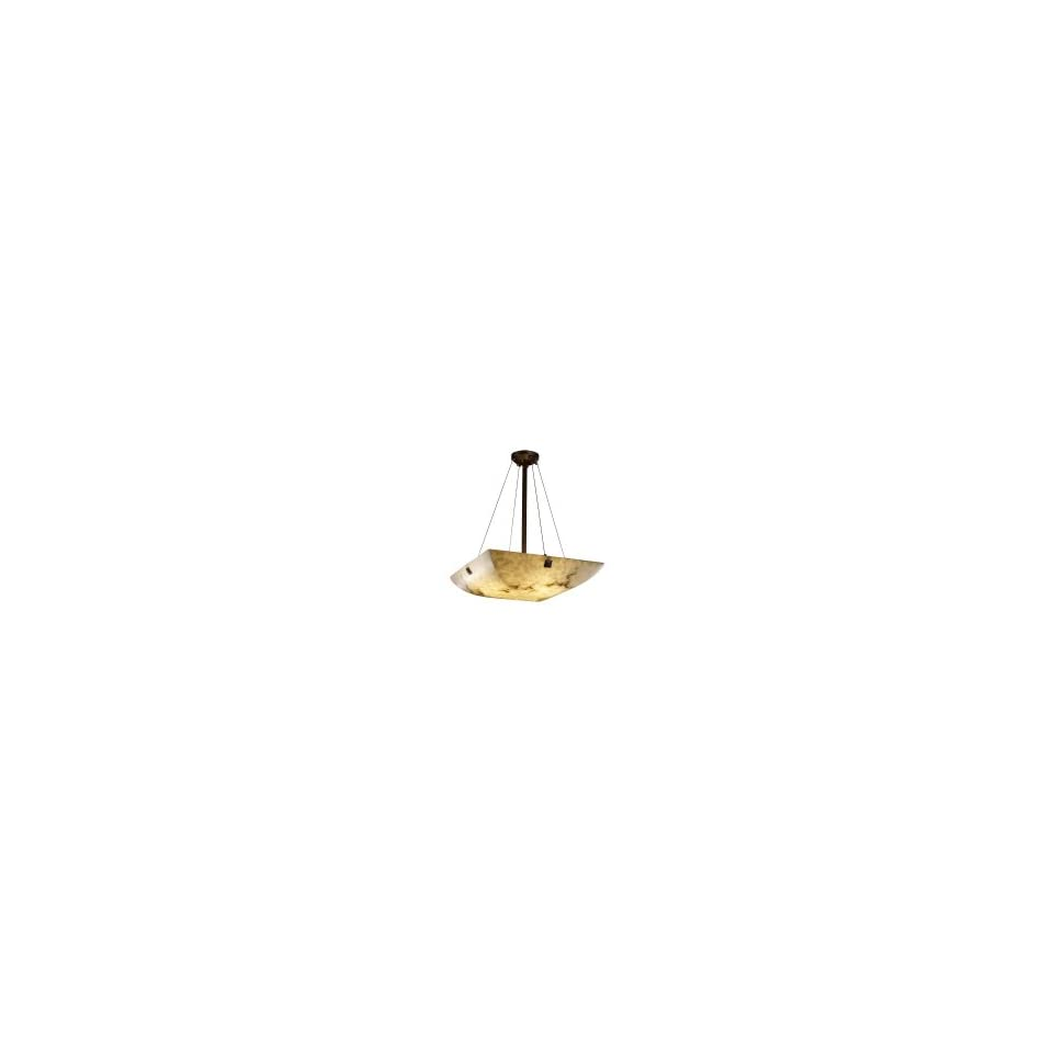Justice Design Group FAL 9662 25 MBLK F5 LumenAria 6 Light Ceiling Pendant in Matte Black with Faux Alabaster glass