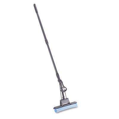 Sponge Mop, Pva, Handle Wringer, Roller Mop, Telescope Handle, Plastic, Black Rubg780