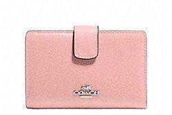 Coach Medium Crossgrain Leather Zip Wallet - #F53436
