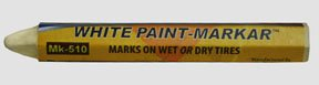 "1/2"" White Paint Marker (Hex)-By-Black Jack Tire Repair front-25433"
