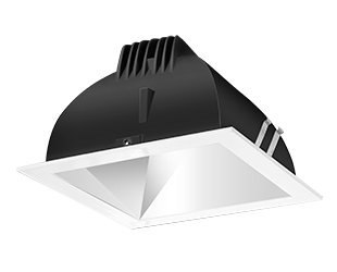 Rab Lighting Ndled4S-Wyy-M-W Led Trim Mod- 4 Square 27K Wall Wash White Ring With Matte Cone