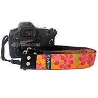 Capturing Couture Hibiscus Collection Hibiscus Sun 1.5 inch DSLR/SLR Camera Neck Strap