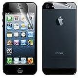 Schutzfolie Displayschutzfolie für Apple iPhone 5 iPhone 5C iPhone 5S unsichtbare ChrystalClear 6 x Vorderseite 2 x Rückseite Displayschutzfolie mit Microfaser Tuch und Soft Card