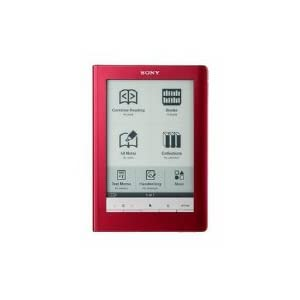 "Sony Digital Reader Touch Edition - Red (PRS600RC) with 6"" Touch Screen - Black"