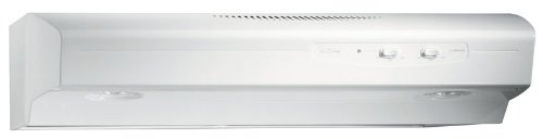 Broan QS142WW Under Cabinet Range Hood, QS1 Series, Allure I, White on White, 42-Inch