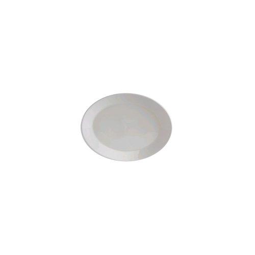 "Tuxton Amu-023 13"" X 10.125"" Modena Alumatux Oval Platter - 12 / Cs"