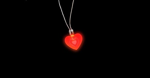 Valentines Flashing Heart Necklace (1 per order) - 1
