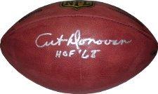 Art Donovan signed Official NFL New Duke Football HOF 68