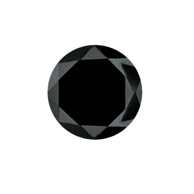 0.14-0.19 Cts of 3.06-3.15 mm AA Round ( 1 pc ) Loose Black Diamond