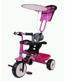 FoxHunter Kids Child Children Trike Tricycle 3 Wheel 4 In 1 Bike Ride On Parent Handle Pink New