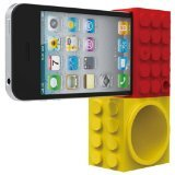 Ozaki iCoat IH927A iCarry time2brick Stand & Amplifier for iPhone 4/4S - Mount - Retail Packaging - YellowithRed