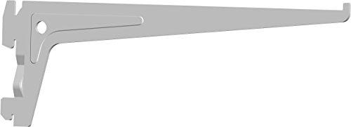 Element System PRO-Träger Regalträger 1-reihig, 2 Stück, 7 Abmessungen, 3 farben, lange 25 cm für Regalsystem, Wandschiene, weiß, 18133-00006