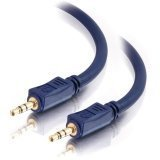 C2G / Cables To Go 40601 Velocity 3.5mm M/M Stereo Audio Cable (3 Feet, Blue)