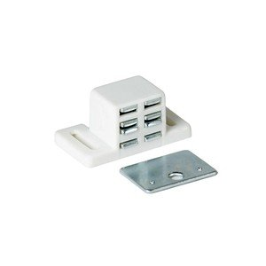Extra Strong, High Magnetic Catch (2 Pk) - White/Nickel (Latch For Kitchen Cabinets compare prices)