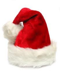 Plush Red and White Traditional Christmas Santa Hat - Adult Size