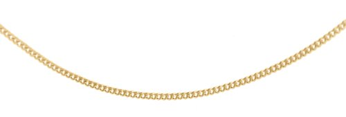 9ct Yellow Gold Diamond Cut Curb Chain 46cm/18