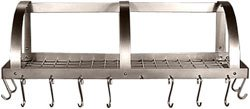 Cheap HSM Stainless Steel Wall Mount Pot Rack with Grid 36-1/4 inch W x 11 inch D (HM-WL36-WG)