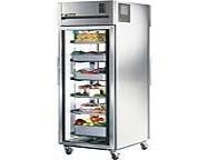 True 1-section Pass-thru Refrigerator W/ Glass Doors, 31 Cu Ft - TA1RPT-1G-1G