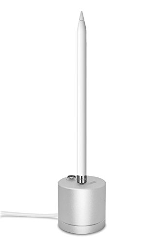 Apple Pencil Stand, TechMatte Apple Pencil Charging Dock/Stand (Aluminium) with Built-in Charging Cable (5FT)