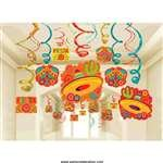 Amscan Fiesta Foil Swirls Decorations