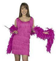 Plus Size Classic Deluxe Fringed Flapper Dress for Roaring 20s! (Cigarette Holder and Boa not included)