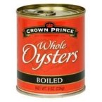 Crown Prince Boiled Whole Oysters -- 8 oz