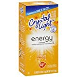 Crystal Light On The Go Energy Citrus, 10 Packets (Pack of 4) by Crystal Light