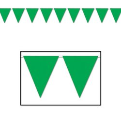 Indoor/Outdoor Pennant Banner (green) Party Accessory  (1 count) (1/Pkg) - 1