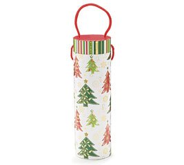 Christmas Trees Wine Bottle Holder Box - Winter Whimzy Holiday Party