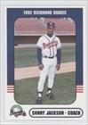 Sonny Jackson Roland Jackson (Baseball Card) 1992 Richmond Braves Richmond Comix #7 by Richmond Braves Richmond Comix