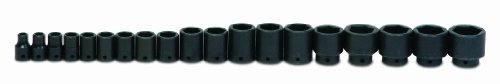 Jh Williams Ws-4-19Rc 19-Piece 1/2-Inch Drive Shallow 6 Point Impact Socket Set
