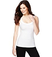 Tummy Control Satin Trim Vest